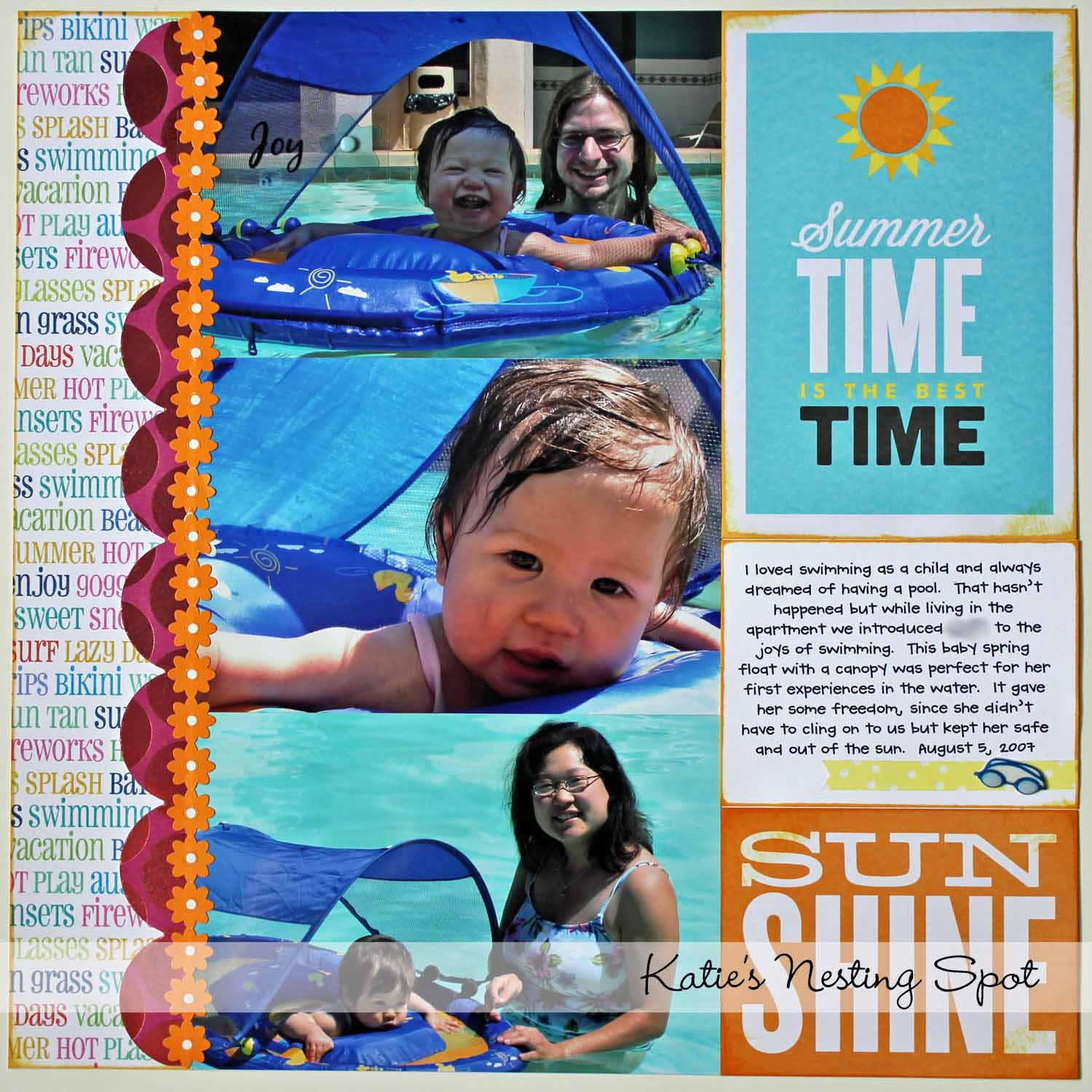 How to scrapbook without page protectors - Normally This Wrmk Page Would Have The 12x2 Slot On The Right If On The Lefthand Side Of A Spread I Love How Could Get The Same Look But Put The Patterned
