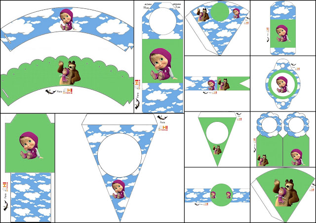 Masha And The Bear Free Party Printables Is It For