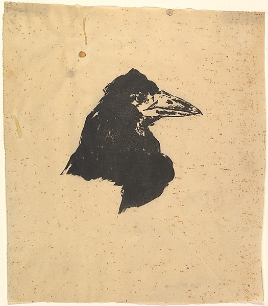 Édouard Manet 1832-1883 | Illustration for The Rave by Edgar Allan Poe