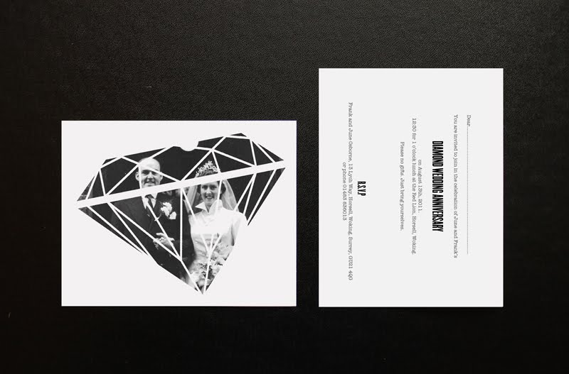 john cheatle osborne diamond wedding anniversary invitation