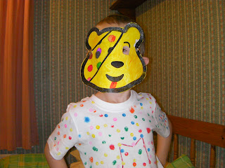 comical mask pudsey children in need