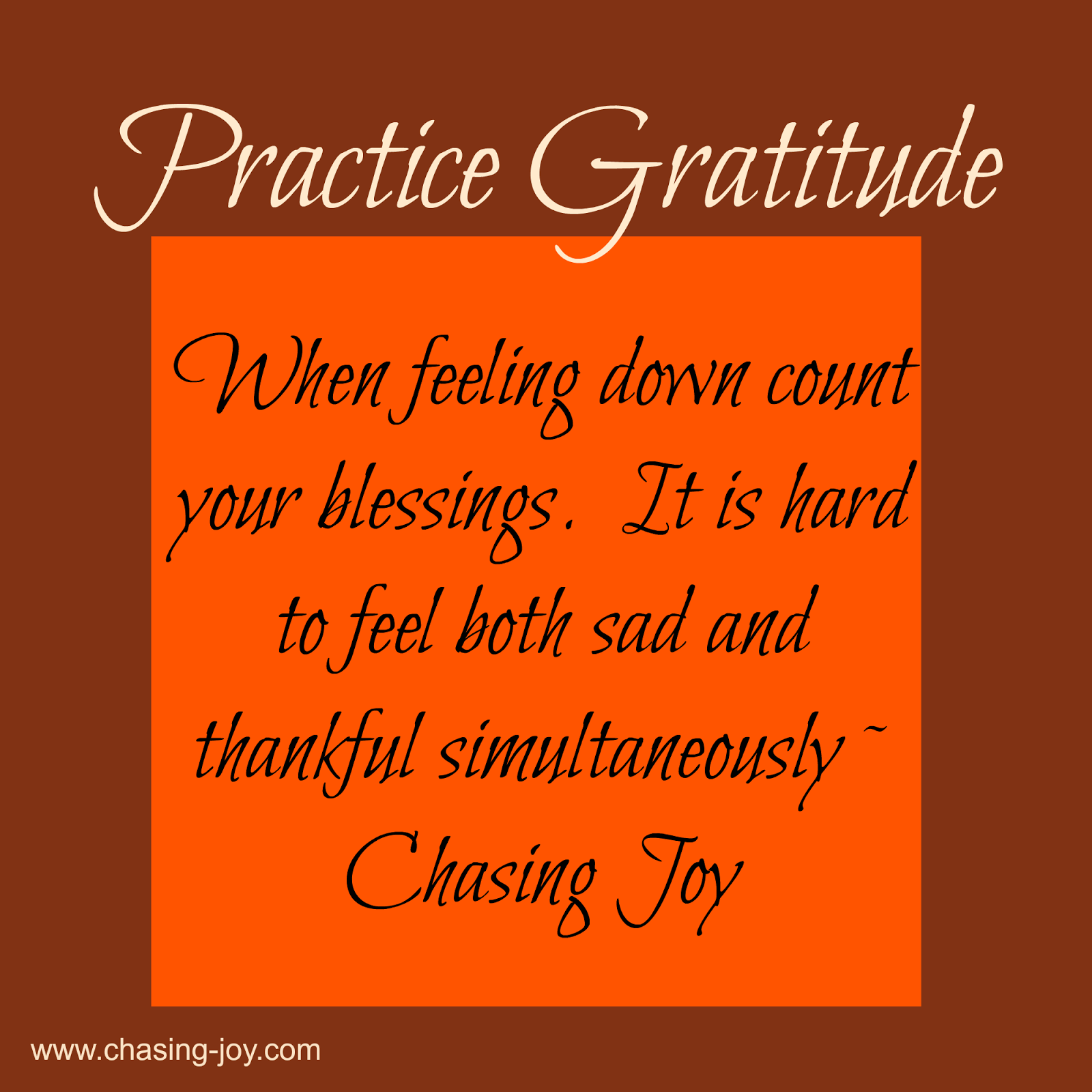 Count Your Blessings When Feeling Down to Feel Better