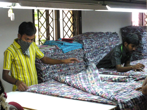 Raw material inspection (fabric) in garments industry