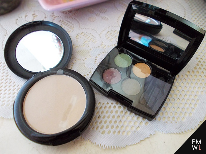 Ever Bilena Powder Foundation in Soft Beige and Fanny Serrano Eyeshadow Quad in Forest