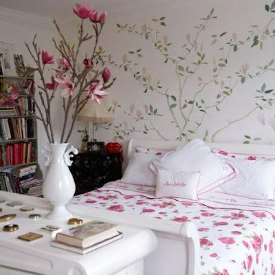 diseño de dormitorio romántico