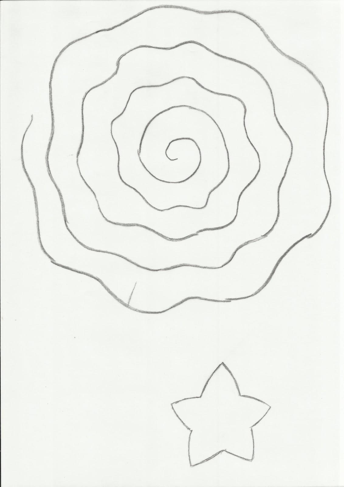 Rolled Paper Flower Template Blackdgfitness