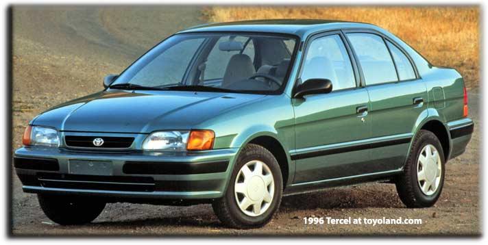 Toyota Manuals  Download Pdf 1996 Toyota Tercel Repair Manual