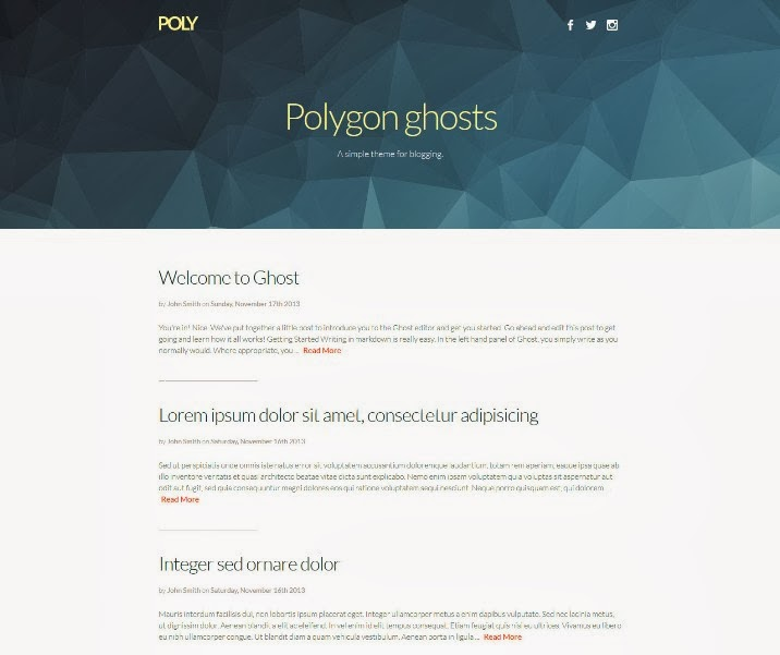 Poly - Responsive Ghost Theme