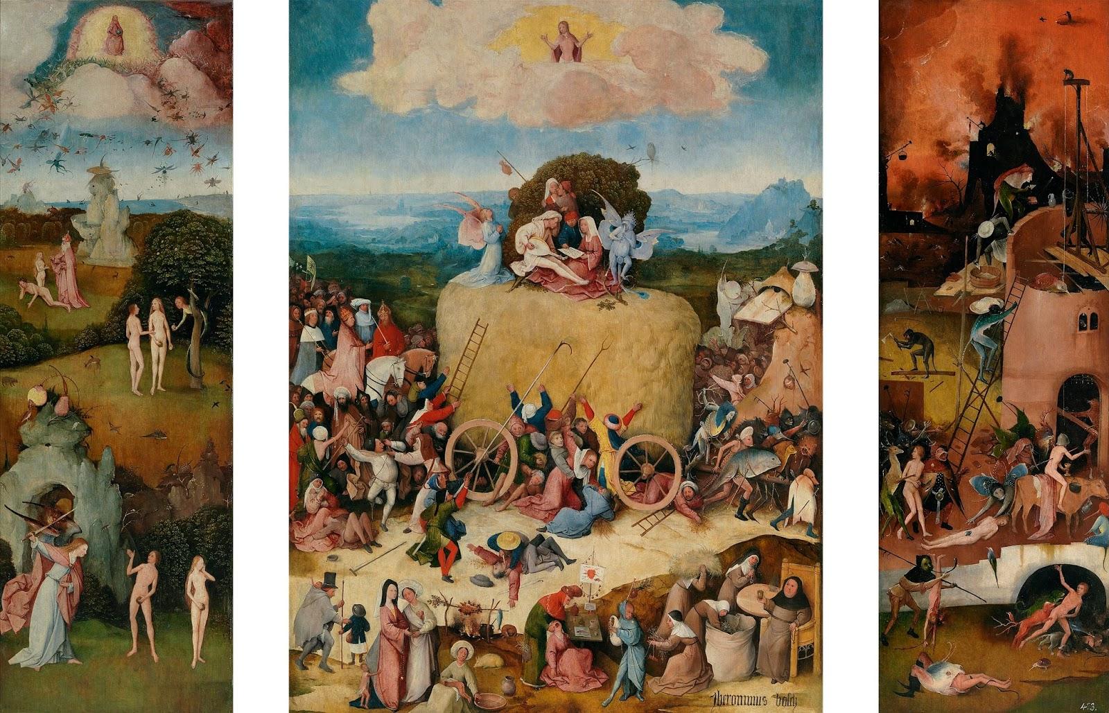 La Memoria del Arte: El carro de heno, de Hieronymus Bosch