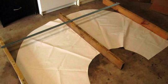 mesa realizada con tablas de palets
