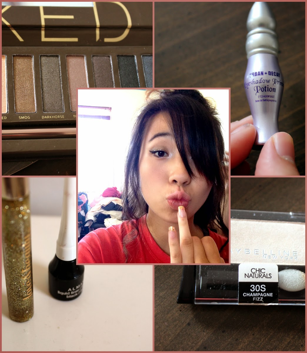 Getting Ready For Prom Gold Eye makeup