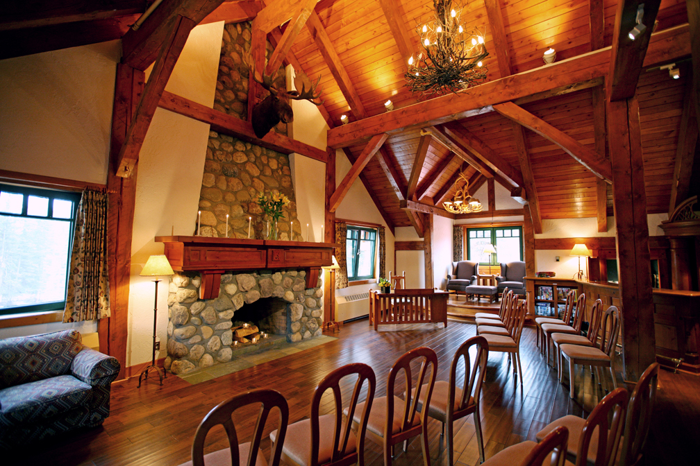 The Library Is A Private Room With Beautiful Fire Place
