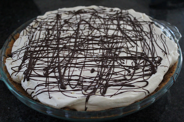 Chocolate and salted caramel pie