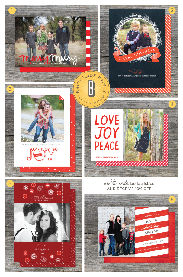 red photo cards, modern christmas card, christmas card round up