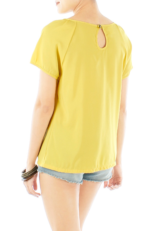 Sunkissed Mellow Out Blouse with Keyhole Back