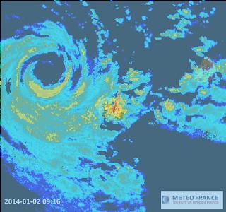 Image radar - ile de la reunion, a proximité de béjisa