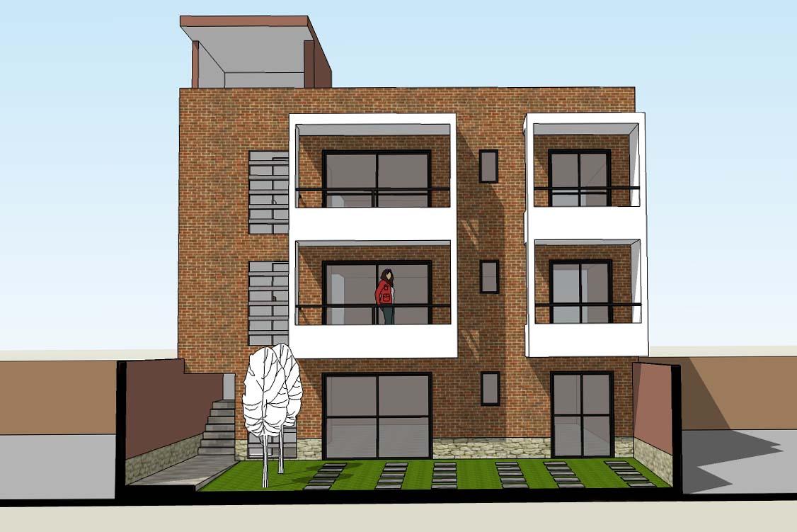 Oniria dise o de vivienda multifamiliar en terreno de 11 for Diseno de casa de 9 x 12