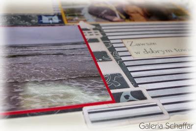 album scrap handmade rękodzieło motywy morskie schaffar