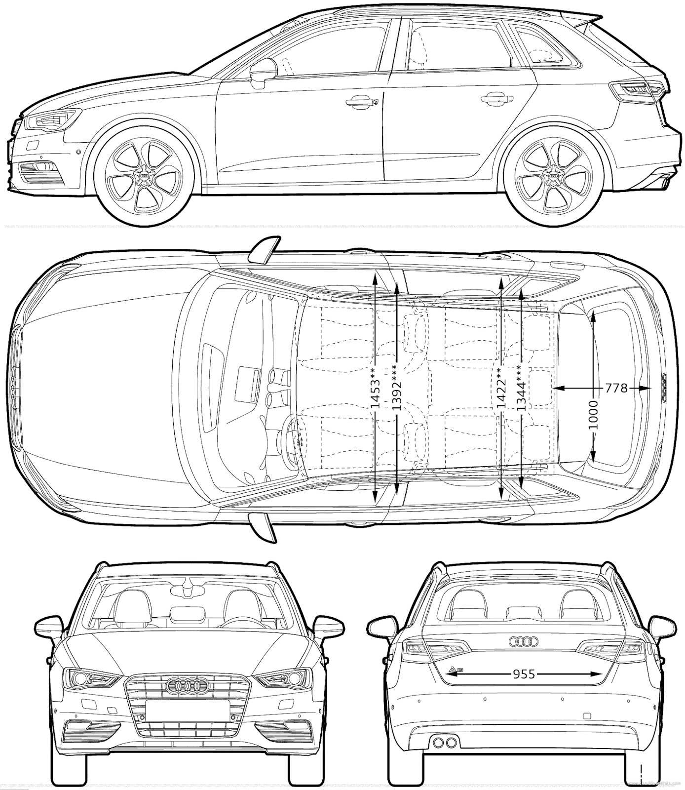 Most loved car blueprints for 3d modeling free for Free 3d blueprints