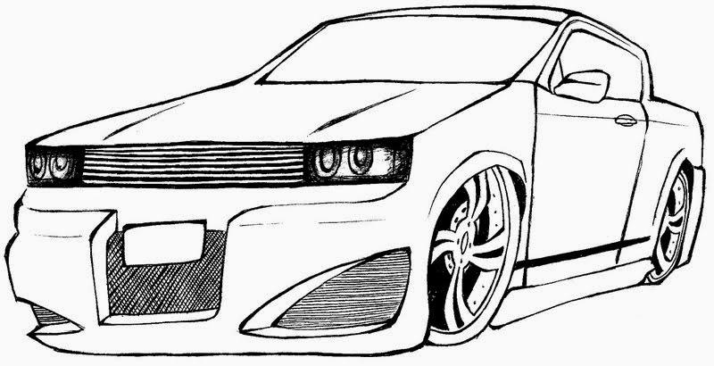 Conhecido Desenhos de Carros Para Imprimir e Colorir - Desenhos Para Colorir ZG34