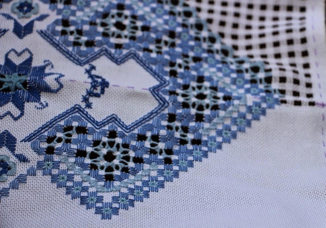 Вышивка хардангер салфетки 46