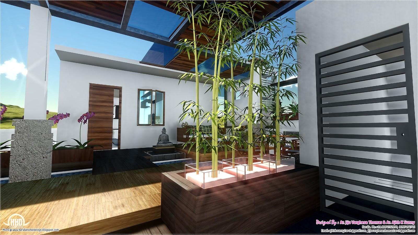 Contemporary style home landscape design in 800 kerala home design and floor plans - Square meter garden design ideas ...