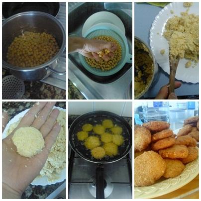 Preparación falafel