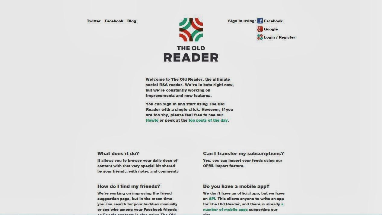 Alternative To Google Feed Reader  البديل عن خدمة الخلاصة