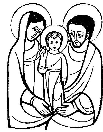 Dibujo de la sagrada familia para colorear 4 dibujo - Familias en blanco y negro ...