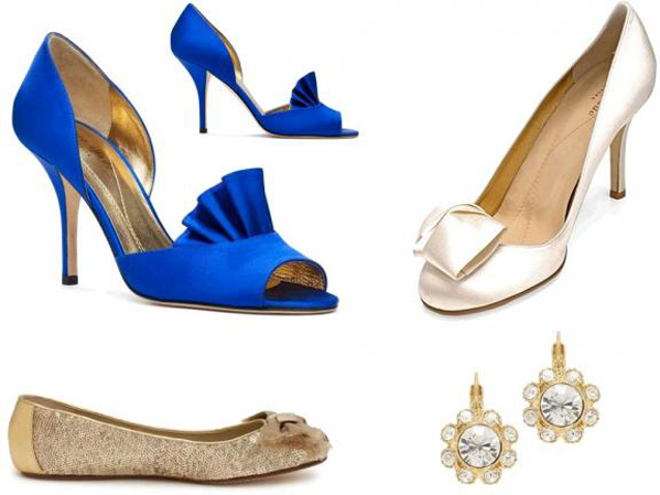 Sapphire Peacock Heel Blue Satin Wedding Shoes by Parisxox taken from HERE