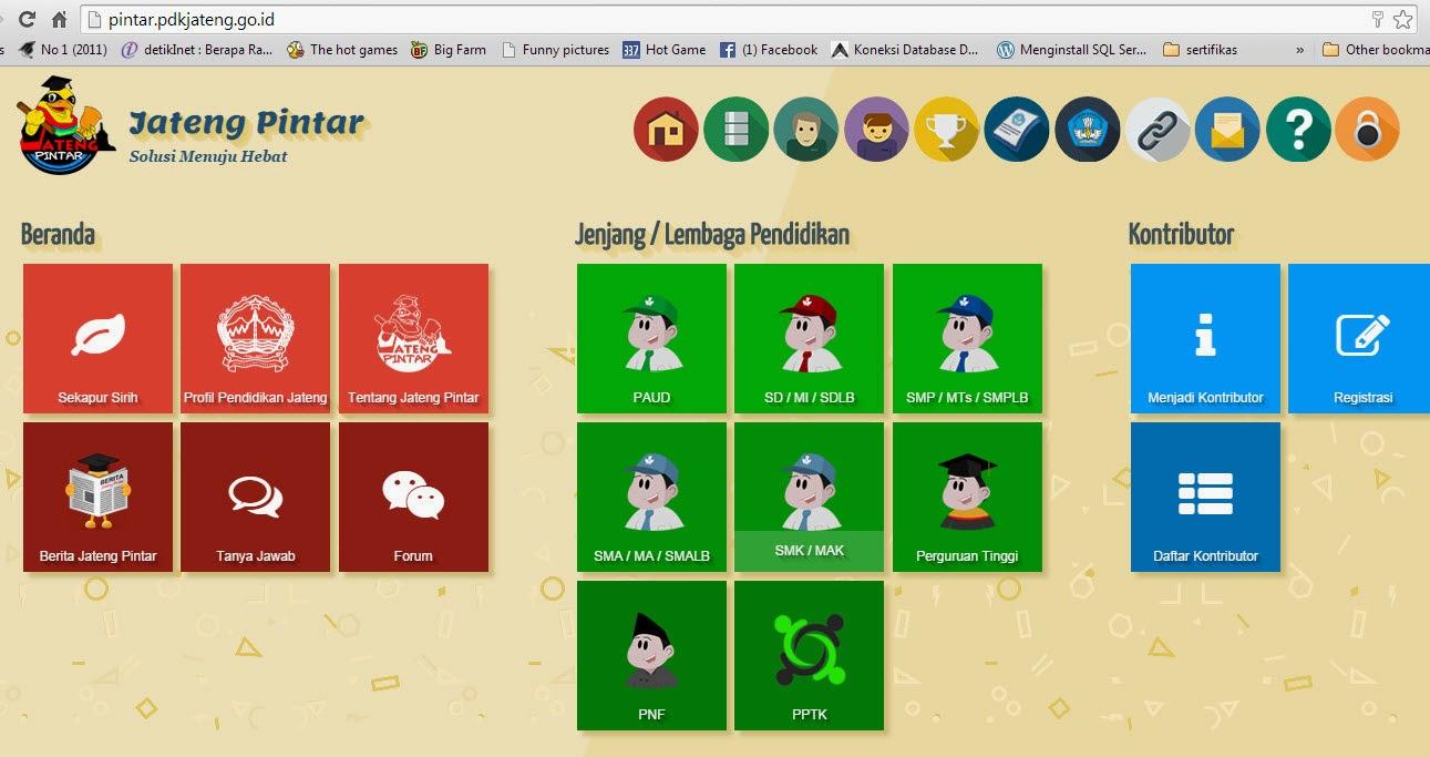 Portal Jateng Pintar BPTIKP Jawa Tengah