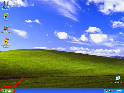 Learn how to unhide files and folders in windowsXP step1