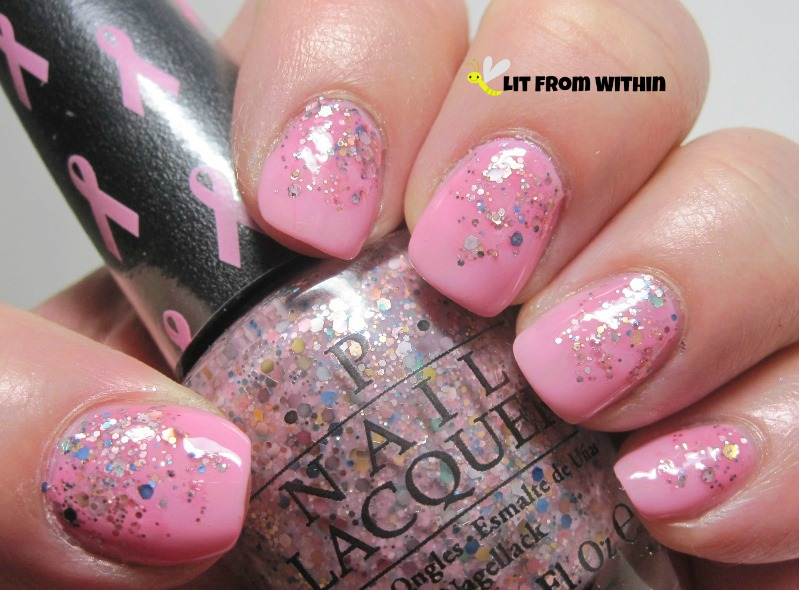 OPI Pink-ing of You and More Than A Glimmer