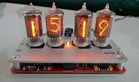 Nixie tube clock, clear