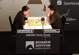 Echecs : Fabiano Caruana (2757) 1-0 Arkadij Naiditsch (2716) au Grenke Chess Classic Baden-Baden 2013