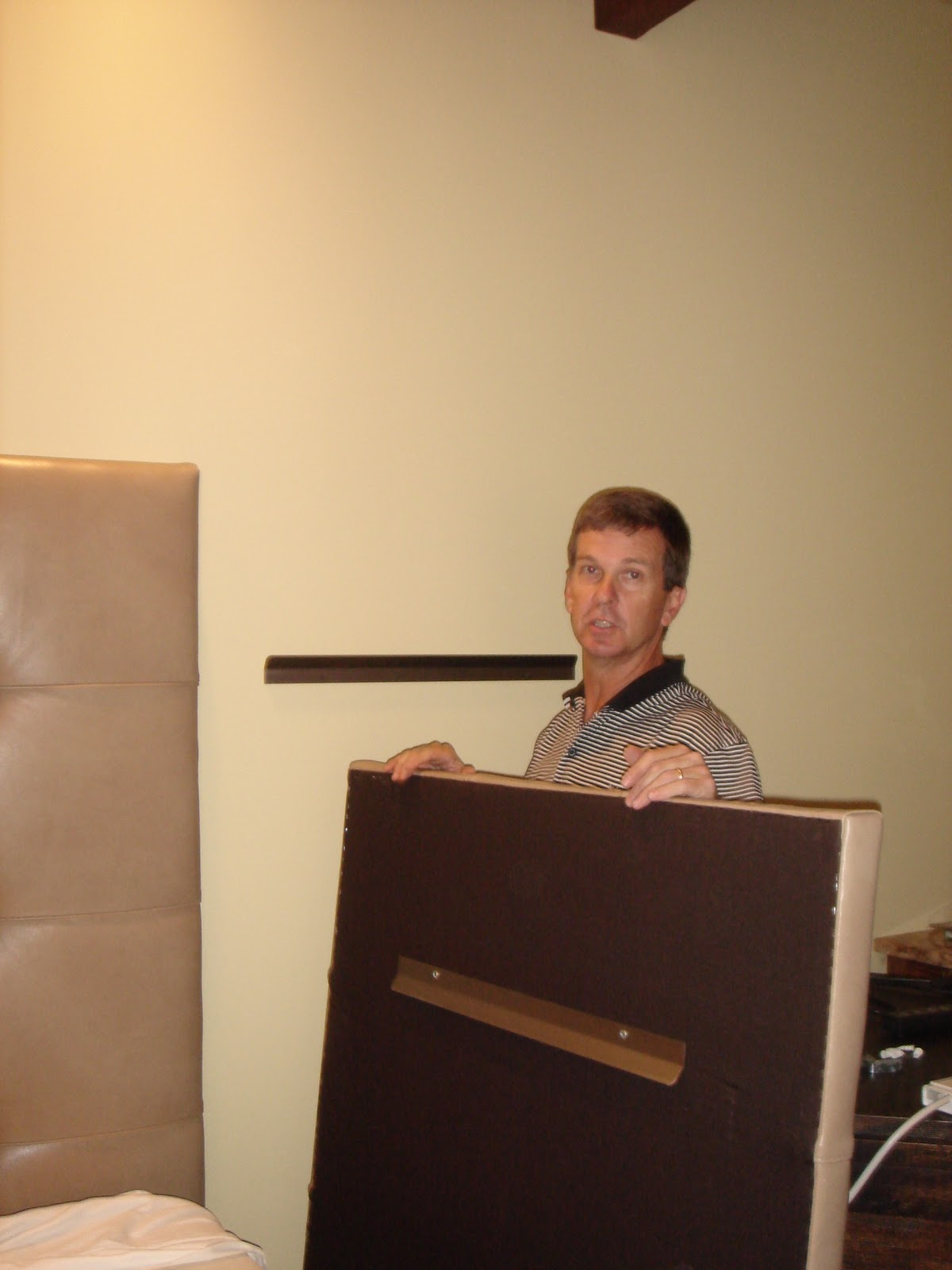 Custom Upholstered Headboard Installation | Cheryl Smith Associates ...