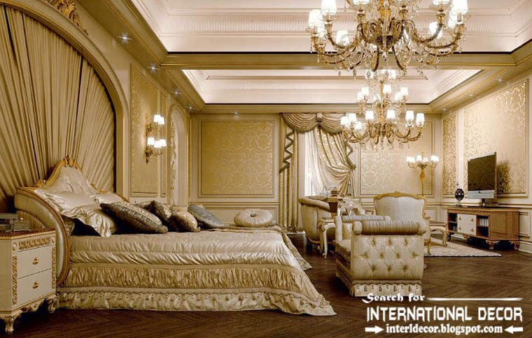 Luxury Classic Interior Design Decor Furniture Read Bedroom Chandeliers Ceiling