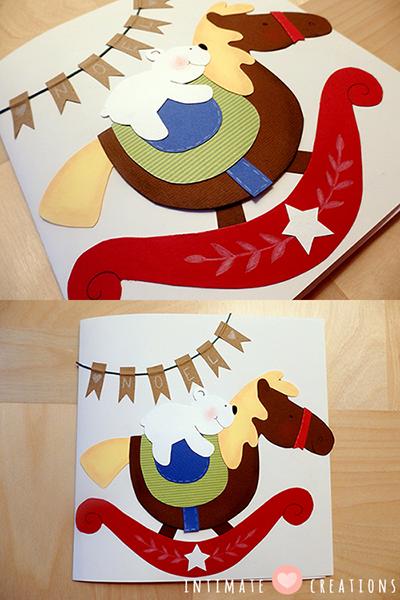 Χριστουγεννιάτικη κάρτα με κουνιστό αλογάκι