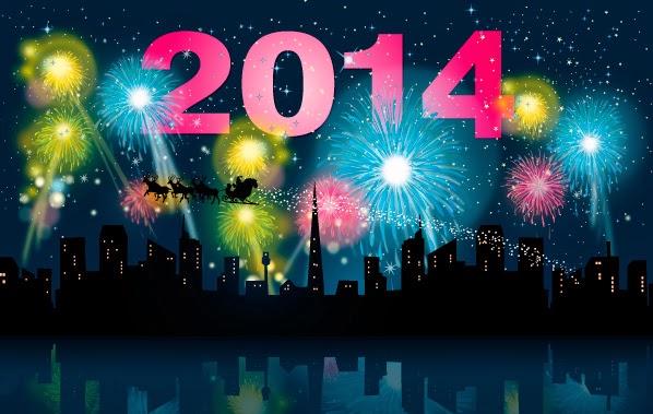 Año Nuevo 2014 - Vector
