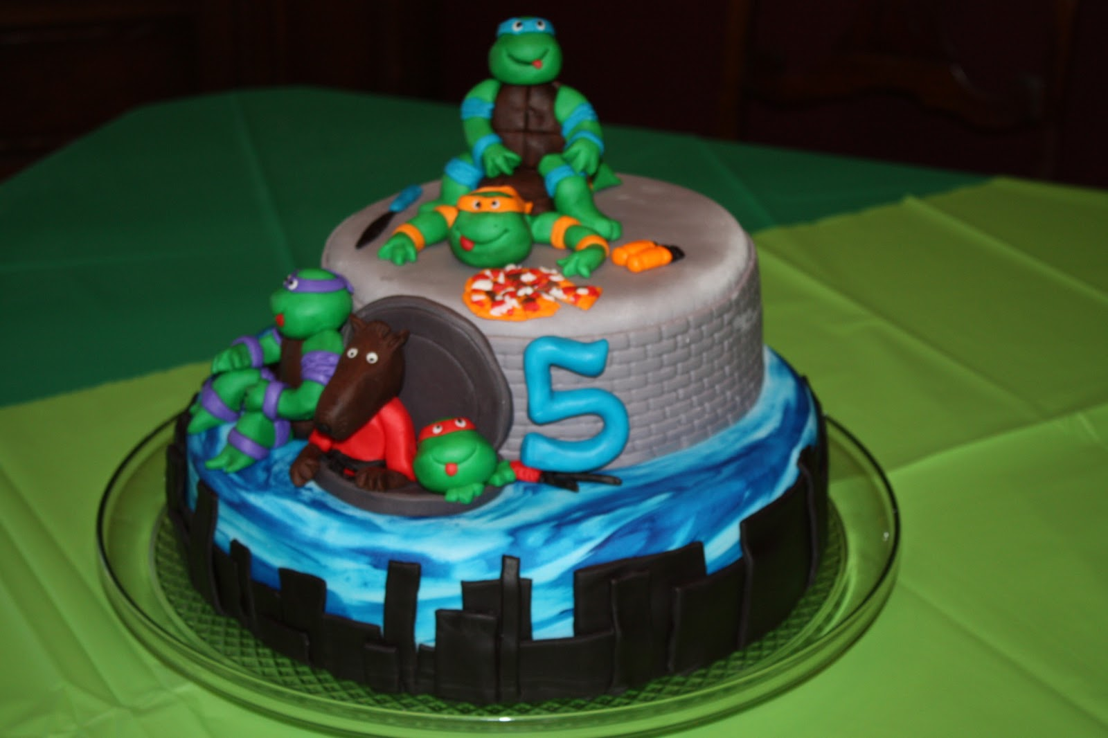Sweet Melissas Cakery: Teenage Mutant Ninja Turtles Birthday Cake