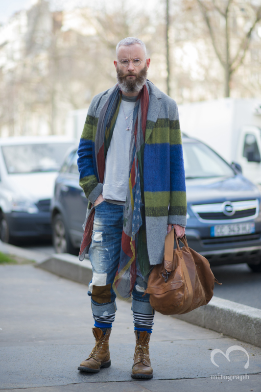 Fashion Editor Stylist Photographer Damian Foxe at Damir Doma 2014 Fall Winter Show during Paris Fashion Week PFW