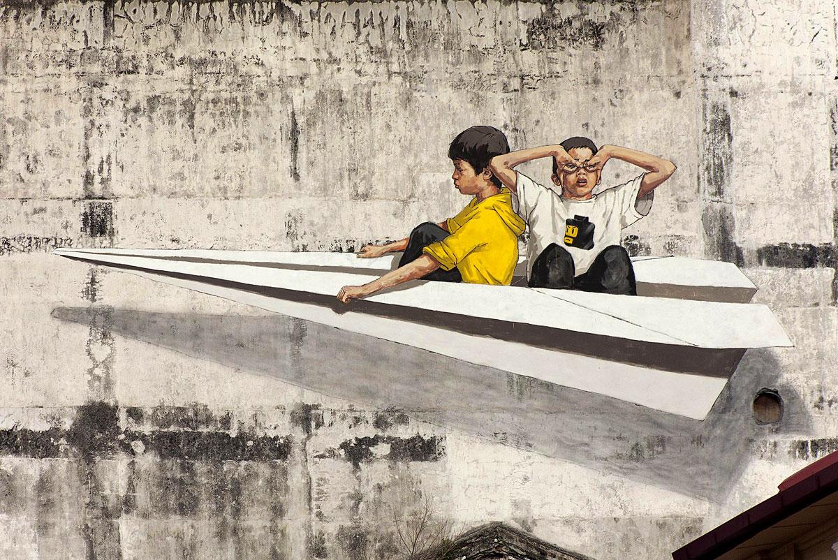 Good Street Art in Ipoh Perak