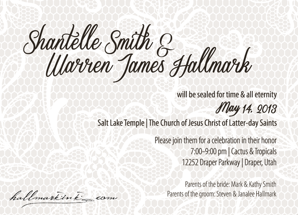 W&S wedding invitation by HallmarkInk.com