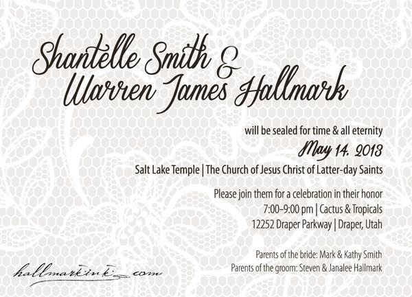 W&S wedding invitation by HallmarkInk.com