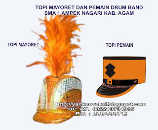 TOPI MAYORET DRUM BAND SMA
