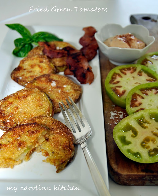 Fried Green Tomatoes Smoked Chipolte in Adobo Sauce
