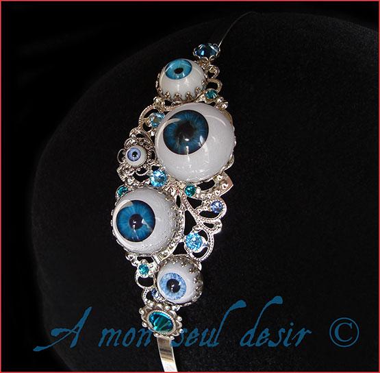 Bijoux Oeil Yeux Serre Tête Headband Eye Eyes