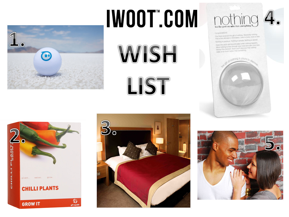 IWOOT shoutjohn wishlist