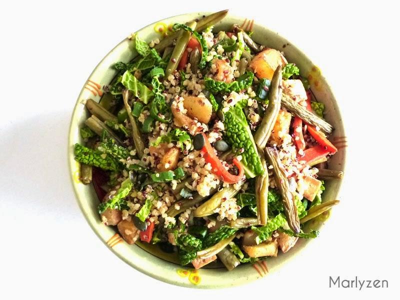 Salade de quinoa et petits légumes.