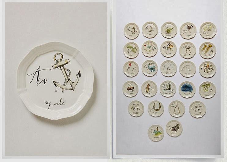 linea carta calligrapher canape plates